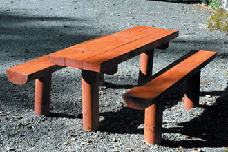 Rustic Picnic Bench Timber